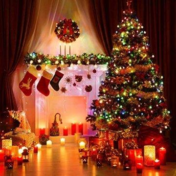 LED Lichterkette Schneeflocken - 6M 40 LED, HIBOER Weihnachten Usb Schneeflocke Lichterketten Warmweiß, Wasserdicht Beleuchtung Stimmungslichter für Garten Weihnachtsbaum Innen Außen - 7