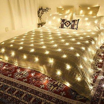 LED Lichternetz 200LED Lichterkette 3x2m mit Fernbedienung 8Modi Innen und Außen Dekoration für Halloween Weihnachten Hochzeit Party (Warmweiß) - 4