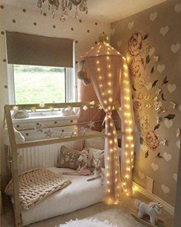 LED Lichtervorhang, 3 * 3M 300er Lichterketten Vorhang USB Fenster Lichterkette Wand mit Fernbedienung&Timer 8 Modi Wasserfall Lichterkette Innen Weihnachten Deko für Party Hochzeit Zimmer-Warmweiß - 5