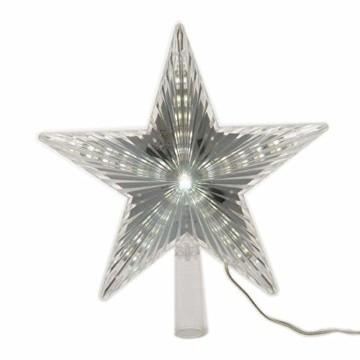 LED Stern für Baumspitze 22cm mit Lauflichteffekt kaltweiss - 1