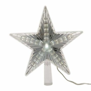 LED Stern für Baumspitze 22cm mit Lauflichteffekt kaltweiss - 2