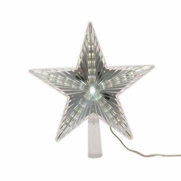 LED Stern für Baumspitze 22cm mit Lauflichteffekt kaltweiss - 4