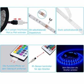 LED Strip, L8star LED Streifen Farbwechsel Led Lichterkette 5M RGB Flexible LED Bänder Strips mit Bluetooth Kontroller Sync zur Musik, Anwendung für Schlafzimmer, Party und Feriendekoration (5M) - 4