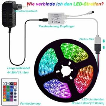 LED Strip, L8star LED Streifen Farbwechsel Led Lichterkette 5M RGB Flexible LED Bänder Strips mit Bluetooth Kontroller Sync zur Musik, Anwendung für Schlafzimmer, Party und Feriendekoration (5M) - 7