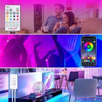 LED Strips 20M HEERTTOGO LED Streifen RGB mit Bluetooth Musikalische LED Lichtband Dynamischer Musikmodus mit Mikrofon APP Steuerung Fernbedienung 23 Tasten16 Millionen Farben Led lichterkette - 6