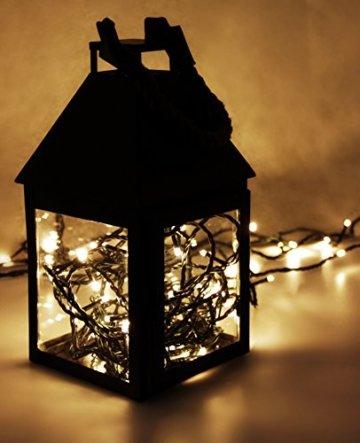 LED Universum Lichterkette mit 100 warmweißen LEDs und verschiedenen Stimmungsmodi für innen und außen, 10 Meter, IP44, perfekt für Weihnachtszeit, Hochzeiten oder Gartenfeiern - 3