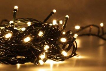 LED Universum Lichterkette mit 100 warmweißen LEDs und verschiedenen Stimmungsmodi für innen und außen, 10 Meter, IP44, perfekt für Weihnachtszeit, Hochzeiten oder Gartenfeiern - 4