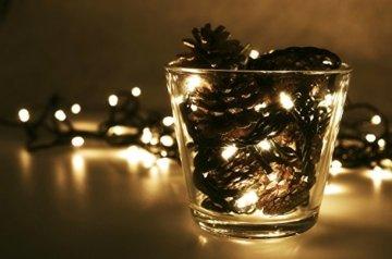 LED Universum Lichterkette mit 100 warmweißen LEDs und verschiedenen Stimmungsmodi für innen und außen, 10 Meter, IP44, perfekt für Weihnachtszeit, Hochzeiten oder Gartenfeiern - 7