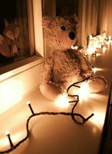 LED Universum Lichterkette mit 100 warmweißen LEDs und verschiedenen Stimmungsmodi für innen und außen, 10 Meter, IP44, perfekt für Weihnachtszeit, Hochzeiten oder Gartenfeiern - 9