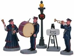 Lemax - Christmas Band - Weihnachtsband - 5er Set - Polyresin - Figuren & Zubehör für die eigene kleine Weihnachtswelt - 1