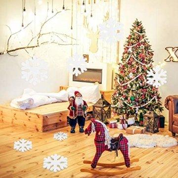 LEZED Holz Schneeflocken Anhänger für Weihnachten 100 STK Holz Schneeflocke Fensterdeko Mini Streuteile Schneeflocken Ausgehöhlten Schneeflocken Verzierungen für Winterliche Weihnachts Tischdeko 35mm - 4
