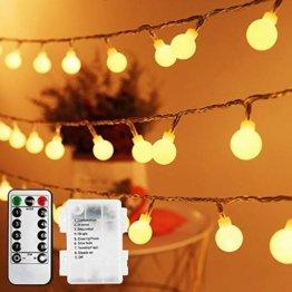 Lichterkette Außen Batterie 10M, Infankey 100LED Led Lichterkette mit Batterie mit Fernbedienung, 8 Modi& Timing-Funktion, IP44 Wasserdicht, lichterkette batterie Perfekt für Garten, Partys, Balkon - 1