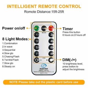 Lichterkette Außen Batterie 10M, Infankey 100LED Led Lichterkette mit Batterie mit Fernbedienung, 8 Modi& Timing-Funktion, IP44 Wasserdicht, lichterkette batterie Perfekt für Garten, Partys, Balkon - 4