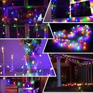 Lichterkette Außen bunt Glühbirnen, 12M 120 LED mit 31V Transformator, 8 Modi Weihnachten Lichterketten für Party Garten Balkon und Innen, Weihnachten, Kinderzimmer, Party, DIY usw, (Mehrfarbig) - 3