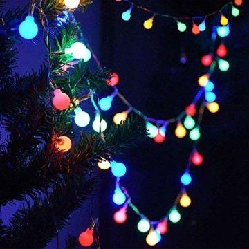 Lichterkette Außen bunt Glühbirnen, 12M 120 LED mit 31V Transformator, 8 Modi Weihnachten Lichterketten für Party Garten Balkon und Innen, Weihnachten, Kinderzimmer, Party, DIY usw, (Mehrfarbig) - 4