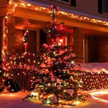 Lichterkette Außen bunt Glühbirnen, 12M 120 LED mit 31V Transformator, 8 Modi Weihnachten Lichterketten für Party Garten Balkon und Innen, Weihnachten, Kinderzimmer, Party, DIY usw, (Mehrfarbig) - 7