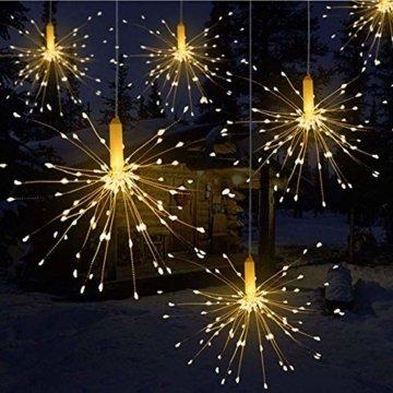 Lichterkette, Queta LED Feuerwerk Lichtkette wasserdicht Weihnachtslichterkette mit Batteriebetrieben Fernbedienung (120 Lampenperlen, Ohne Batterien) - 1