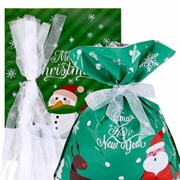 LIHAO 24 x Geschenktüte Geschenkverpackung zum Befüllen Deko Geschenkbeutel Weihnachten Tüte mit Bänder Aufkleber Verschiedene Größe für Party - 5