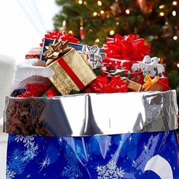 LIHAO 24 x Geschenktüte Geschenkverpackung zum Befüllen Deko Geschenkbeutel Weihnachten Tüte mit Bänder Aufkleber Verschiedene Größe für Party - 6