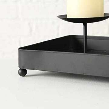 LS-LebenStil Kerzenhalter Metall 60cm Schwarz Advent Kerzen-Tablett Kerzenschale - 4