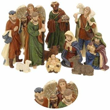 LS-LebenStil Krippenfiguren Set 11teilig Weihnachten Krippe Maria Josef Jesus - 1