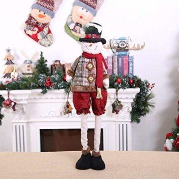 Luccase Mehrfarbig Baumwolle Puppe 45x25cm Niedliche Weihnachtsmann / Elch / Schneemann Weihnachts Rückziehbare Weihnachtspuppe für Sofas Bettwäsche Dekor (C) - 2