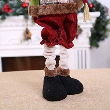 Luccase Mehrfarbig Baumwolle Puppe 45x25cm Niedliche Weihnachtsmann / Elch / Schneemann Weihnachts Rückziehbare Weihnachtspuppe für Sofas Bettwäsche Dekor (C) - 5