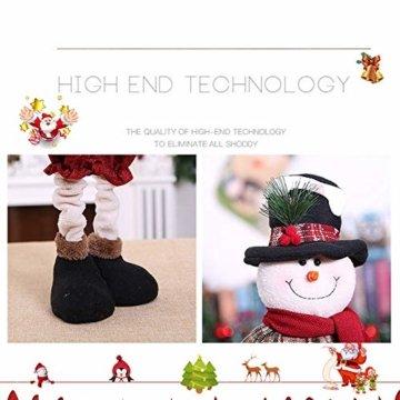 Luccase Mehrfarbig Baumwolle Puppe 45x25cm Niedliche Weihnachtsmann / Elch / Schneemann Weihnachts Rückziehbare Weihnachtspuppe für Sofas Bettwäsche Dekor (C) - 6