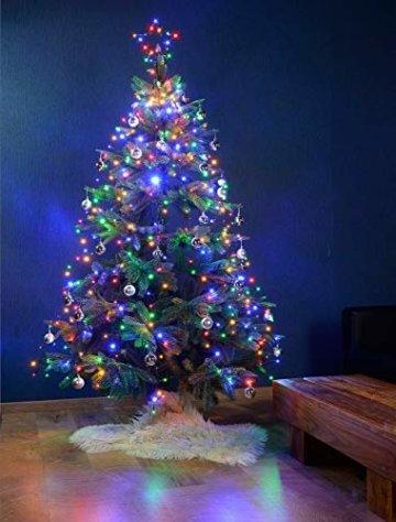 Lunartec Christbaumbeleuchtung: Christbaum-Überwurf-Lichterkette, 320 RGBW-LEDs, Bluetooth & App, IP44 (Christbaumlichterkette) - 2