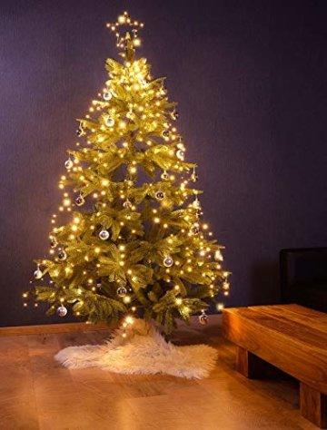 Lunartec Christbaumbeleuchtung: Christbaum-Überwurf-Lichterkette, 320 RGBW-LEDs, Bluetooth & App, IP44 (Christbaumlichterkette) - 4