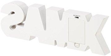 Lunartec LED Deko: LED-Schriftzug Xmas aus Holz & Spiegeln mit Timer & Batteriebetrieb (Xmas Schriftzug beleuchtet) - 9