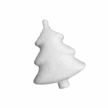 LUOEM Styropor Figur Mini Weiß Weihnachtsbaum zum Bemalen und Basteln Styroporkugeln Christbaum Tannenbaum Miniature DIY Handwerk Weihnachtsanhänger Weihnachtsdeko 24 Stück 7.3cm - 4