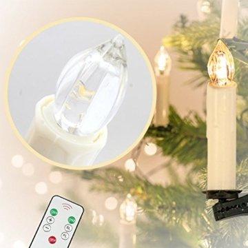 MCTECH 30er Warmweiß Weinachten LED Kerzen Kabellose Weihnachtsbeleuchtung Flammenlose Lichterkette Kerzen Weihnachtskerzen für Weihnachtsbaum, Weihnachtsdeko, Hochzeitsdeko, Party, Feiertag - 3