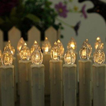 MCTECH 30er Warmweiß Weinachten LED Kerzen Kabellose Weihnachtsbeleuchtung Flammenlose Lichterkette Kerzen Weihnachtskerzen für Weihnachtsbaum, Weihnachtsdeko, Hochzeitsdeko, Party, Feiertag - 7