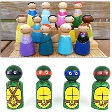 Mengger Figurenkegel holz Familie Figuren Holzfiguren Spielfiguren Zum Bemalen Basteln Puppen Spielfiguren Mann Frau Junge Mädchen Kinder 30 Stück - 5