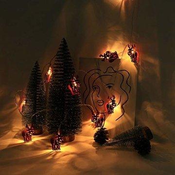 Meter Licht Batterie Lichterkette Warmweißes Eisenhirsch 2M Lichterketten 10 Led Outdoor Indoor Weihnachtsbaum Weihnachten Eisregen, Warm-Weiss/Kalt-Weiss, Innen AußEn Adapter - 3