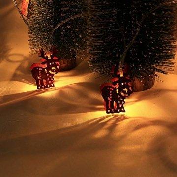 Meter Licht Batterie Lichterkette Warmweißes Eisenhirsch 2M Lichterketten 10 Led Outdoor Indoor Weihnachtsbaum Weihnachten Eisregen, Warm-Weiss/Kalt-Weiss, Innen AußEn Adapter - 4
