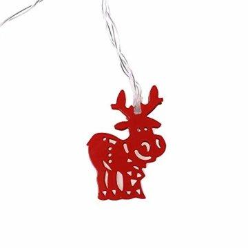 Meter Licht Batterie Lichterkette Warmweißes Eisenhirsch 2M Lichterketten 10 Led Outdoor Indoor Weihnachtsbaum Weihnachten Eisregen, Warm-Weiss/Kalt-Weiss, Innen AußEn Adapter - 5