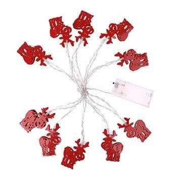 Meter Licht Batterie Lichterkette Warmweißes Eisenhirsch 2M Lichterketten 10 Led Outdoor Indoor Weihnachtsbaum Weihnachten Eisregen, Warm-Weiss/Kalt-Weiss, Innen AußEn Adapter - 6