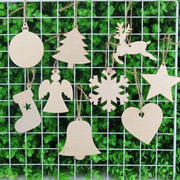 Miamasvin Holz Christbaumschmuck, Weihnachtsbaum Deko,Weihnachtsanhänger,Weihnachtsbaumschmuck,Weihnachtsanhänger Deko, Christbaumschmuck Handwerkliche Verzierungen für Weihnachten (Tpye 1) - 3