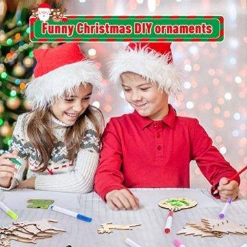 Miamasvin Holz Christbaumschmuck, Weihnachtsbaum Deko,Weihnachtsanhänger,Weihnachtsbaumschmuck,Weihnachtsanhänger Deko, Christbaumschmuck Handwerkliche Verzierungen für Weihnachten (Tpye 1) - 5
