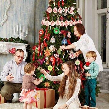 Miamasvin Holz Christbaumschmuck, Weihnachtsbaum Deko,Weihnachtsanhänger,Weihnachtsbaumschmuck,Weihnachtsanhänger Deko, Christbaumschmuck Handwerkliche Verzierungen für Weihnachten (Tpye 1) - 6