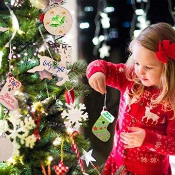 Miamasvin Holz Christbaumschmuck, Weihnachtsbaum Deko,Weihnachtsanhänger,Weihnachtsbaumschmuck,Weihnachtsanhänger Deko, Christbaumschmuck Handwerkliche Verzierungen für Weihnachten (Tpye 1) - 7