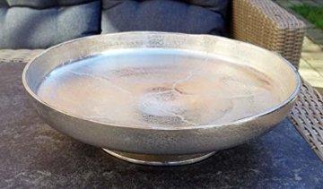 MichaelNoll Dekoteller Schale Servierplatte Aluminium Silber Moderne Dekoschale aus Metall - XXL 40 cm - 3