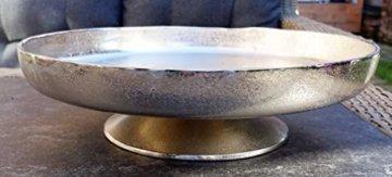 MichaelNoll Dekoteller Schale Servierplatte Aluminium Silber Moderne Dekoschale aus Metall - XXL 40 cm - 1