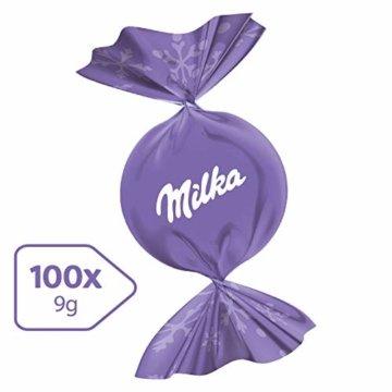 Milka Feine Kugeln Alpenmilch 1 x 900g, 100 einzeln verpackte Schokoladenkugeln mit Alpenmilch Füllung - 3