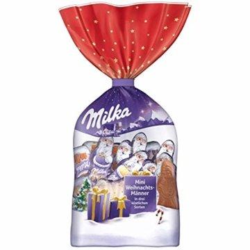 Milka Mini Weihnachtsmänner 1 x 120g, Alpenmilch Schokolade, Milchcrème und Noisette - 1