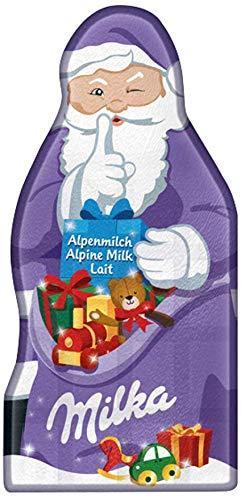 Milka Weihnachtsmanntafel – Zartschmelzende Alpenmilch Schokolade in Weihnachtsmannform – 85g - 1