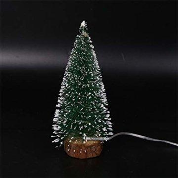 Mini Künstliche Weihnachtsbaum,Colorful Desktop Kleiner Weihnachtsbaum Christbaum Grün Tannenbaum unechter Tannenbaum Künstliche Tanne Schneetannen Deko Weihnachtsdeko (15cm) - 3