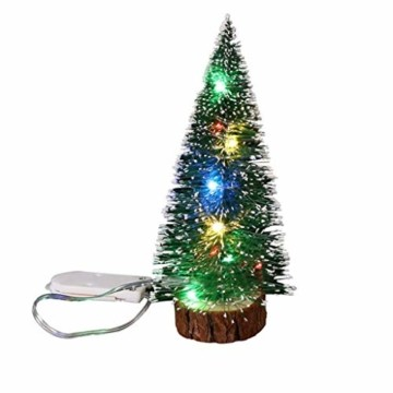 Mini Künstliche Weihnachtsbaum,Colorful Desktop Kleiner Weihnachtsbaum Christbaum Grün Tannenbaum unechter Tannenbaum Künstliche Tanne Schneetannen Deko Weihnachtsdeko (15cm) - 1